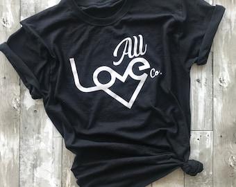 All Love Logo T-shirt | Love | Compassion | Vegan | Veganism | Kindness