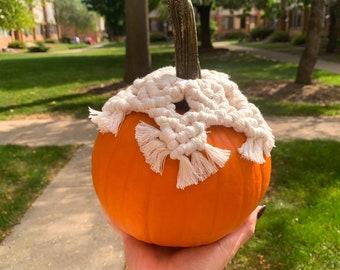 Macrame Pumpkin Toppers, Halloween Decor, Fall Home Decor, Handmade, Boho Chic