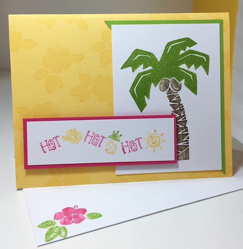 Tropical Handmade Card Hot Hot Hot