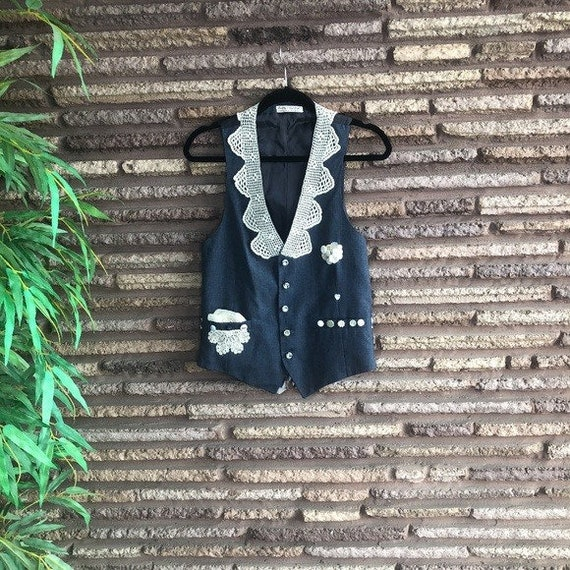 Daddy's Old Vest Upcycled Men's Style Vest