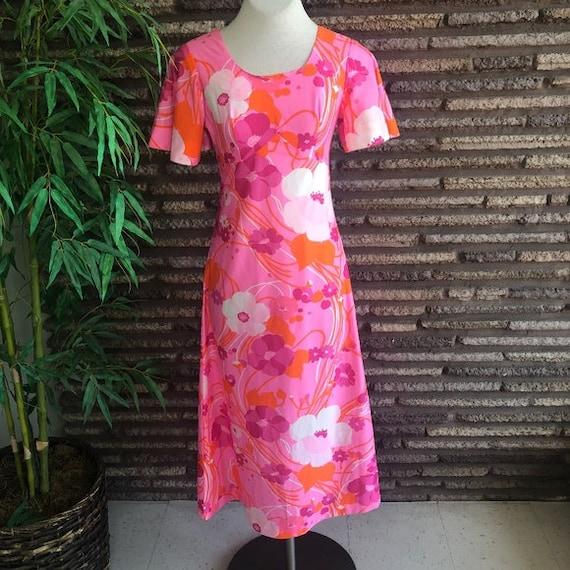 Hawaii Nei Vintage Hawaiian Pink Maxi Dress