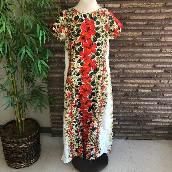 Harriet's of Hawaii Vintage 60's Hostess Maxi Gown