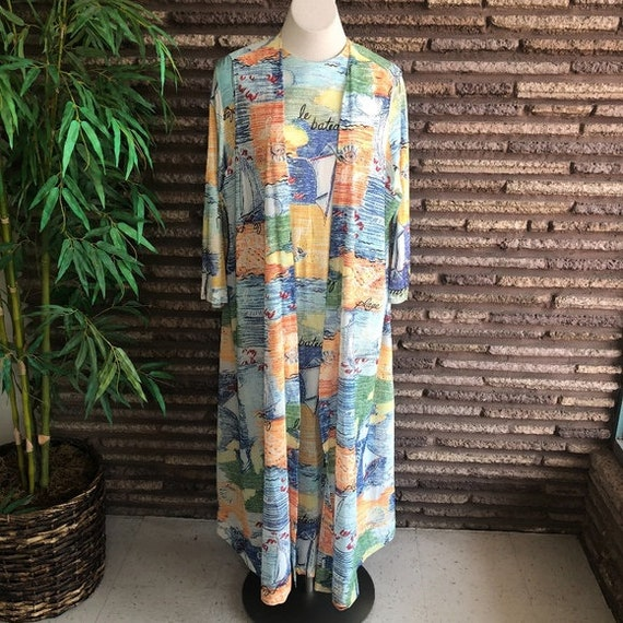 Georgie Keyloun Vintage 70s Maxi Dress & Vest Plus