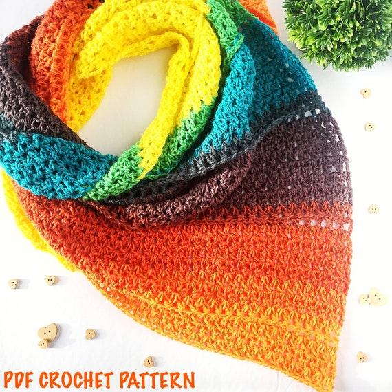 Shasta Triangle Scarf Pdf Crochet Pattern | Etsy - Diy Crafts