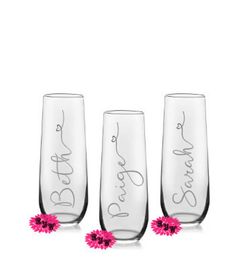 Engraved Champagne Glass Personalized Champagne Flute image 0