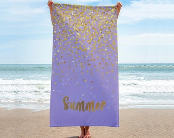 Sparkling Name Personalized Beach Towel Personalized Name Bath Towel Custom Pool Towel Beach Towel With Name Outside Birthday Vacation Gift