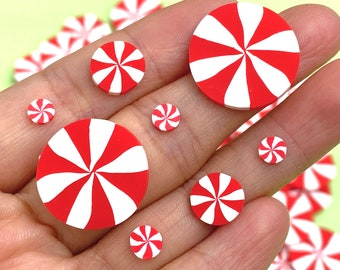 20/100g 5mm/10mm/20mm Peppermint Candy Fake Sprinkles Decoden Slime Supplies Jimmies nail art resin shaker filler Christmas PLAYCODE3