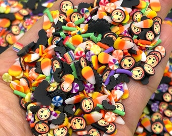 20100g Halloween Fake Polymer Clay Sprinkles Slime Supplies Crafting Supply Jimmies nail art PLAYCODE3