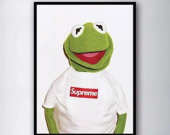 87abcf20a4d4 Supreme Kermit Poster Silk Print Wall Art Picture Home Decor Painting