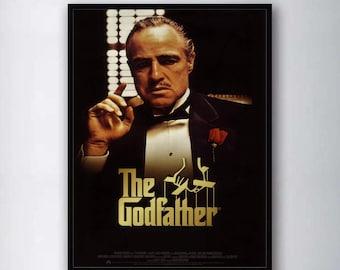 Don Corleone The godfather classic old movie poster retro nostalgia kraft paper
