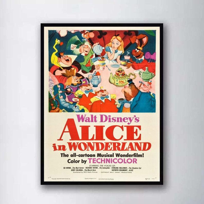 Alice In Wonderland Cartoon Movie Silk Poster Canvas Art Print 12x18 24x36 inch