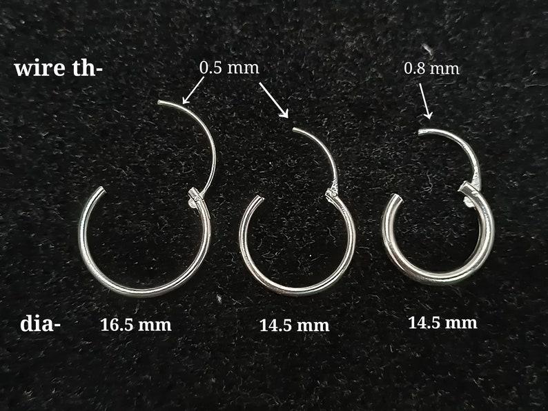 Sterling Silver Body Jewelry Septum Piercing Nose Ring Cartilage Piercing Earring Ear Lobe Eyebrow Ring.