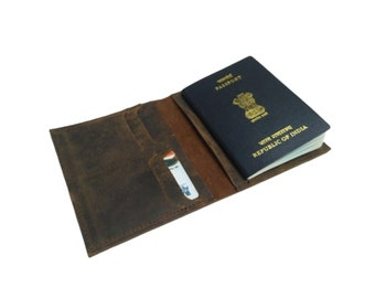 Dots /& Dinosaur Genuine Leather Passport Cover Personalized
