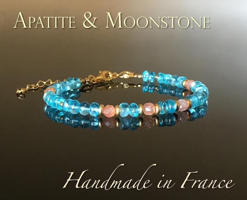 Apatite moonstone bracelet