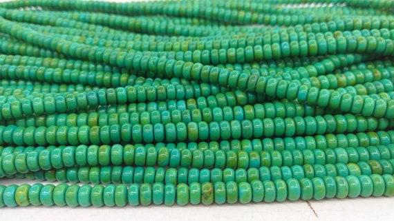 """6mm Turquoise Heishi Rondelle Beads 16/"""" Red"""