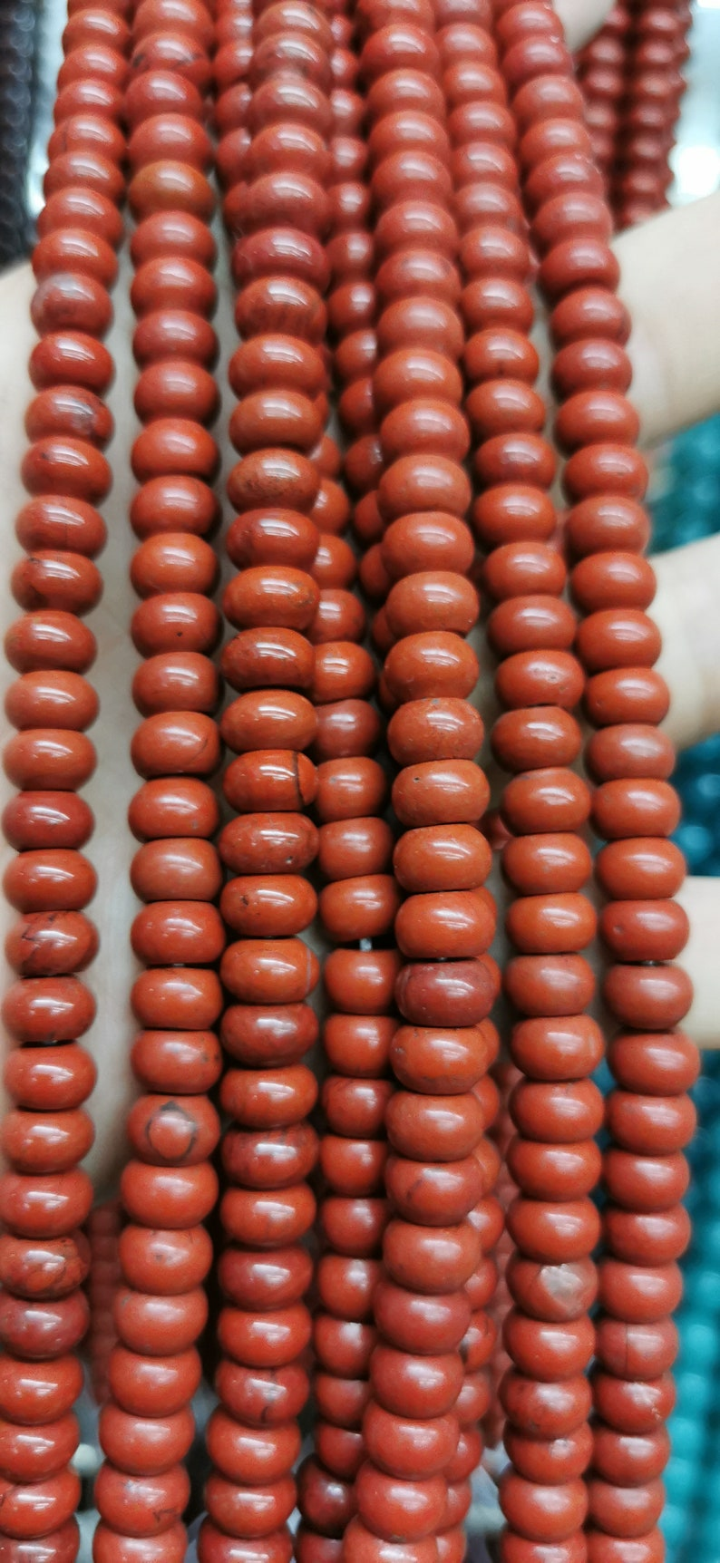Wholesale Natural Red River Jasper Gemstone 4x6mm 5x8mm heishi wheel rondelle abacuse  Round Loose Beads 16