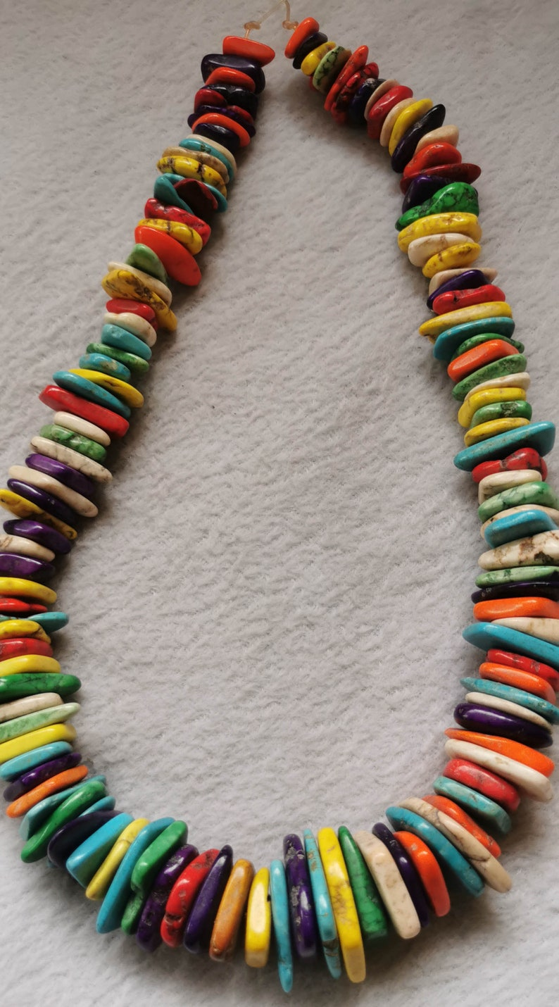 17inch  slab Freeform Spacer Heishi Mixed  Magnesite Turquoise Beads Charm,Natural  Turquoise Slab Disc Beads necklace 140pcsstrand