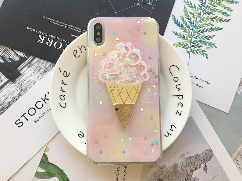Bling Ice Cream Cone iPhone Case iPhone XS Max Case iPhone XS image 0