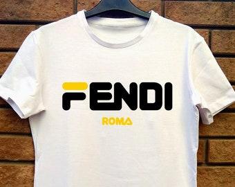 c6a7cb9b999 Fendi Roma inspiré T-shirt