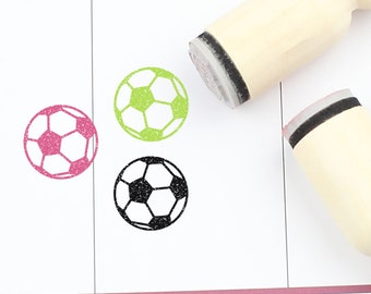 372 Football Wooden Rubber Stamp No