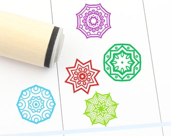 Texture Tile Rubber Stamp Fleur de Lis 16mm 20mm 25mm Mini Wood Stamps S1777