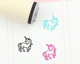 Keoste 26Pcs Unicorn Ink Stamps Unicorn Self-Inking Stampers Assorted Patterns Rainbows Ink Stamps for Card Making Crafting Painting Creative Kids Toy