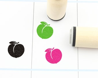 Cherries Pear Wood Mounted Lemon Set of 4 Fruit Mini-Stamps Peach