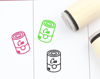 S263 16mm Canned Goods Stamp Planner Stamp Canned Food Stamp 20mm  Mini Stamps Can Rubber Stamp