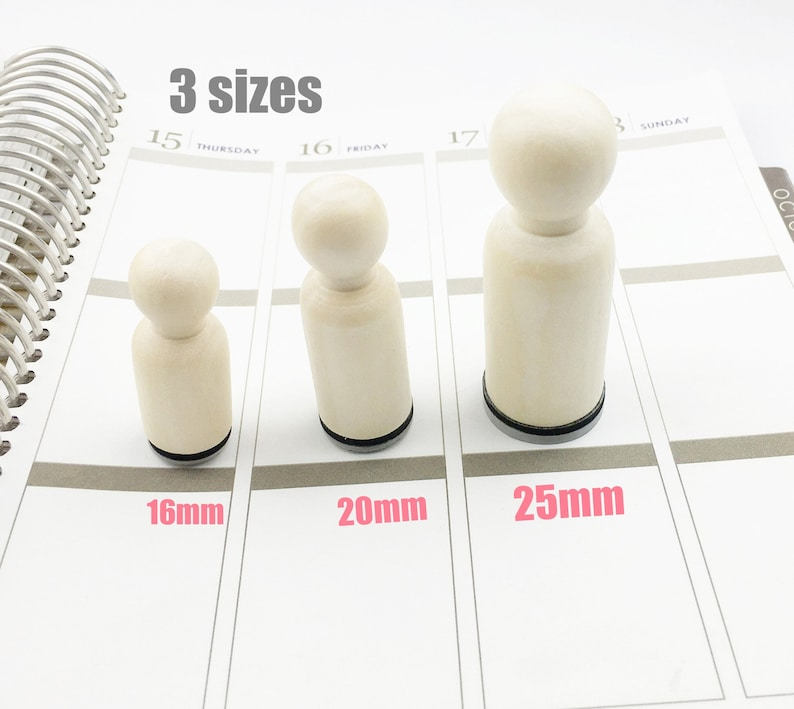Planner Stamp Nail polish Rubber Stamp Cute Nail polish Stamp Nail Salon Stamp 16mm 20mm  Mini Stamps S797