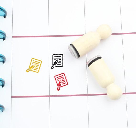 S252 20mm Mini Stamps Planner Stamp Socks Rubber Stamp Stockings Stamp 16mm Dress Stamp