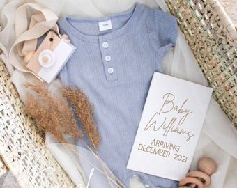 Blue Digital Pregnancy Announcement for Social Media. Boy Pregnancy Announcement.