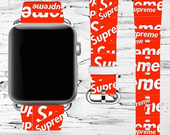 Inspired By Supreme Apple Watch Band Gift Lv Series 4 Leather Strap 38 40mm 42 44mm