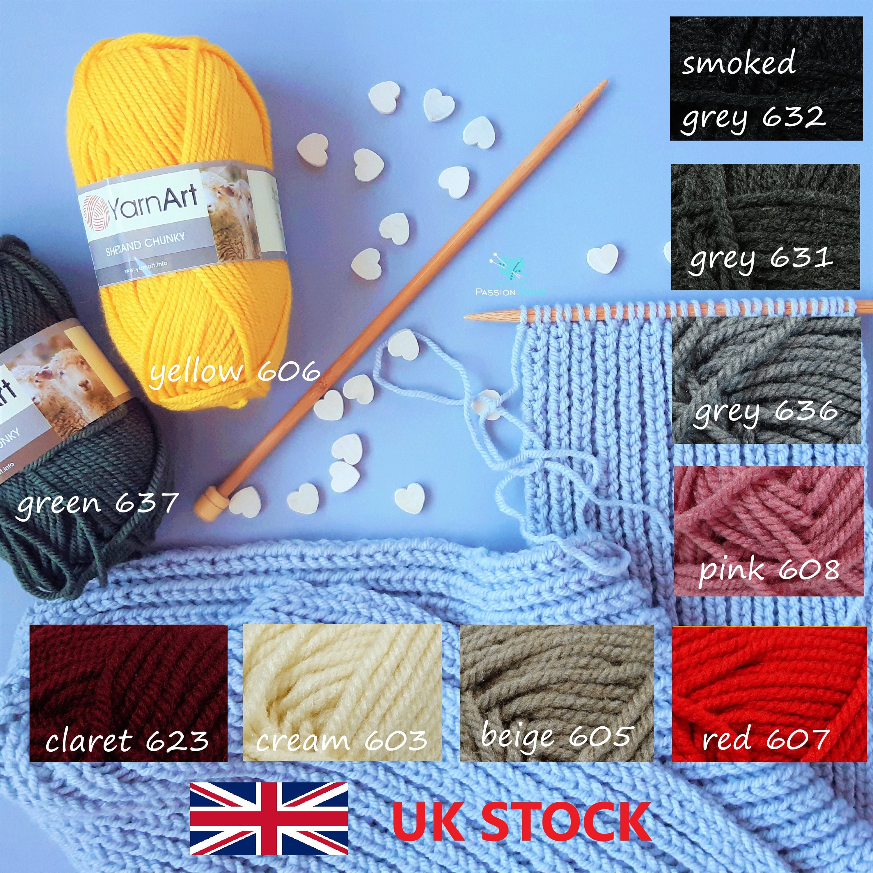 50g Super Soft Knitting Chunky Hand-knitted Wool Yarn Baby Skein ...