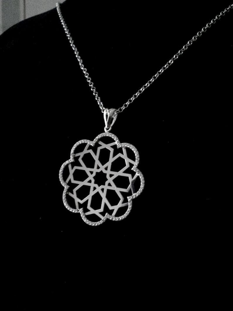 Seljuk Star Design Silver Necklace