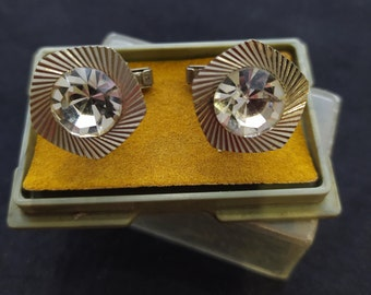 USSR Collectible Gift Clamps Cuff Art deco Ukraine Vintage Retro Soviet 4 Soviet Vintage Cufflinks \u0410ccessories Vintage Soviet era