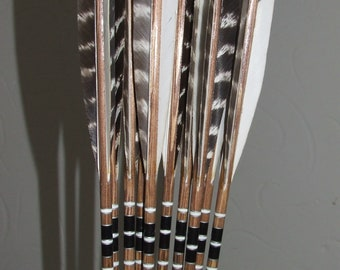 Set of 12 traditional wooden arrows
