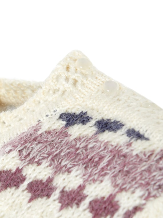 Fuzzy Novelty Stripe Puff Shoulder Sweater | M, L - image 7