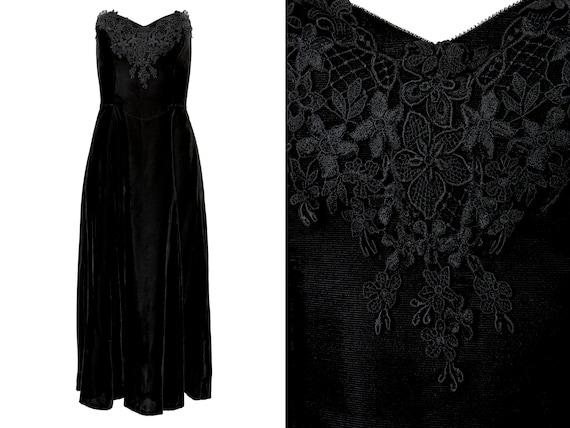 Gunne Sax Black Velvet Lace Corset Top Strapless D