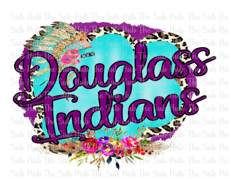 Sublimation Transfer Ready to Press Sports Shirt Design Douglass Indians