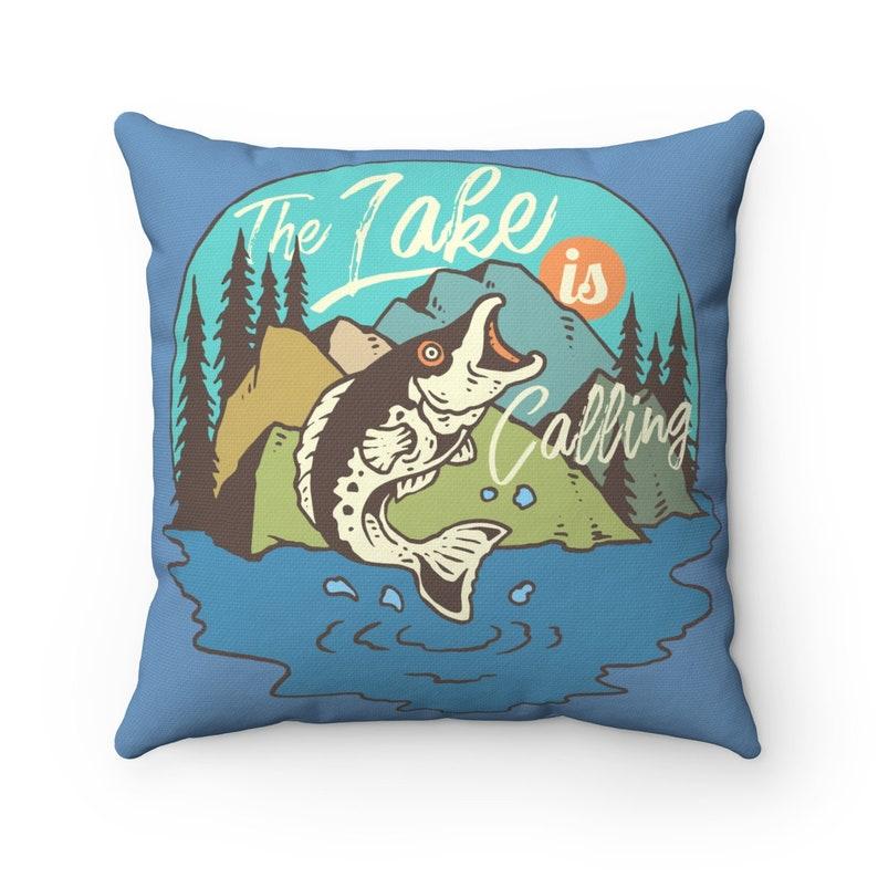 adventure decor Cabin house Decor Fishing Pillow Nature decor Mountain Home Decor Mountain decor Starry Night Pillow