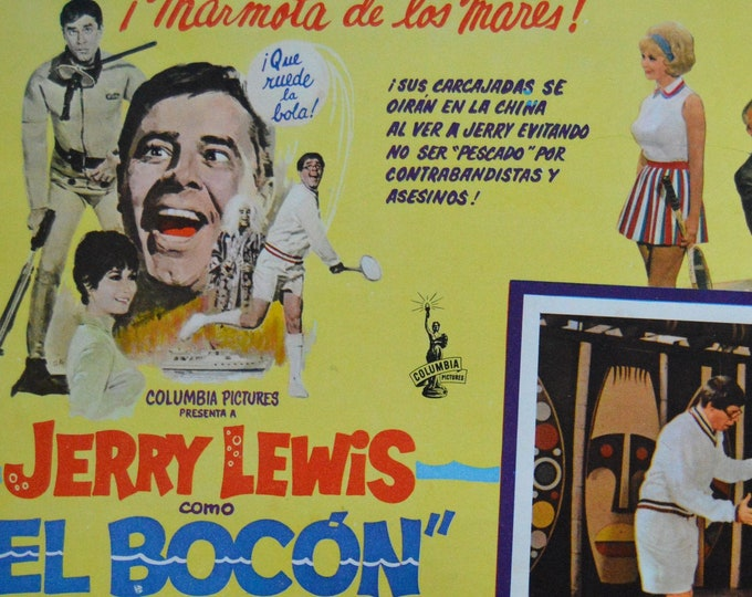 The big mouth. (1967) con Jerry Lewis  Original Mexican lobby card.