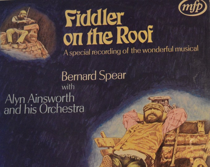 "The Fiddler on the Roof, 1971 vinyl record from the original original soundtrack, 12"" vinyl LP"