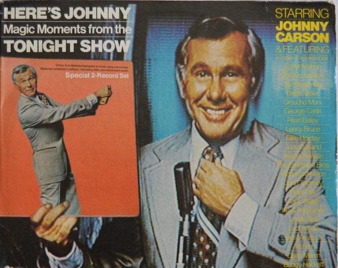 Johnny Carson - Heres Johnny Tonight Show 2LP Vinyl Record . (1974)