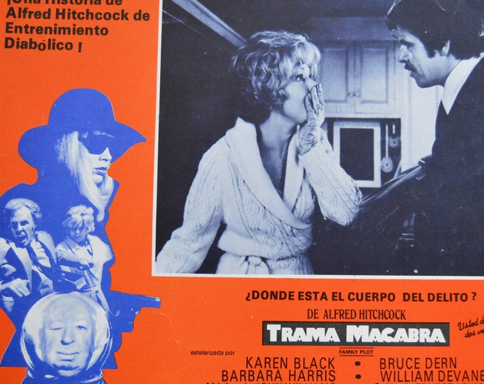 Family plot ( 1976).Alfred Hitchcock.  Original mexican lobby card.