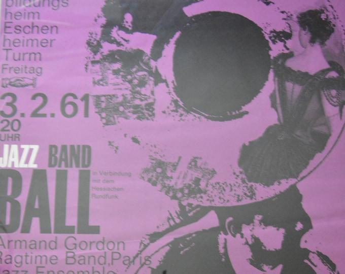 Jazz band Ball (1961). Original German jazz poster.
