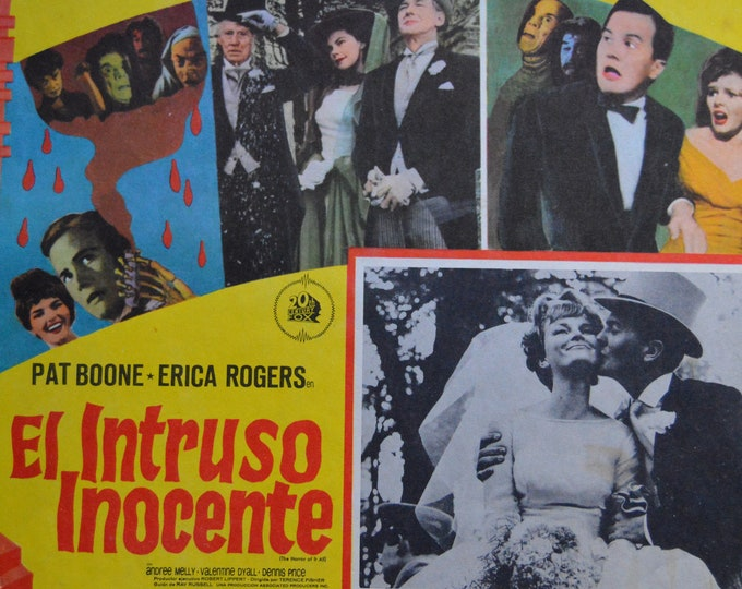 The horror of it all. ( 1964) Terence Fisher.  Original mexican lobby card.