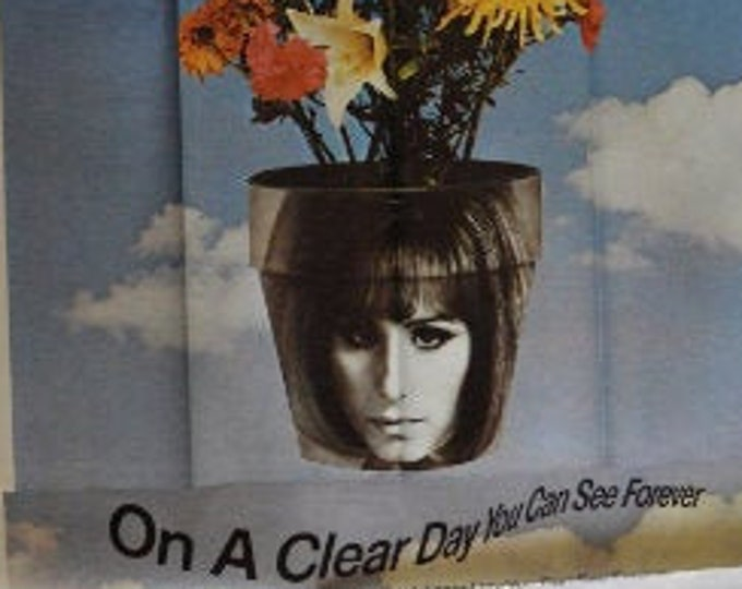 On a Clear Day You Can See Forever (1970) with Barbra Streisand . Original american movie poster, 3 sheets.