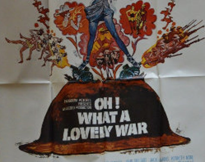 Oh! What a Lovely War (1969) directed by Richard Attenborough. Original american movie poster, 3 sheets.