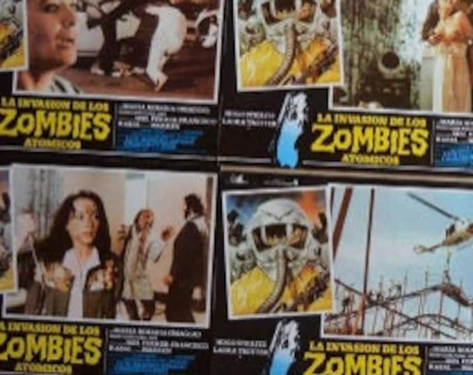 The Invasion of Atomic Zombies (1980). Pack 12 Spanish Lobby Cards