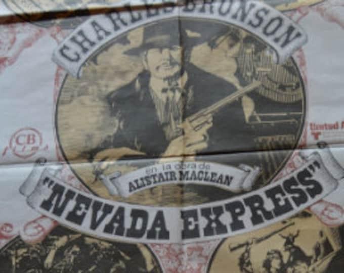 NEVADA EXPRESS (1975) con Charles Bronson. Cartel de cine original.
